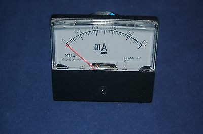 Dc 1ma Analog Ammeter Panel Amp Current Meter Dc 0-1ma 6070mm Directly Connect