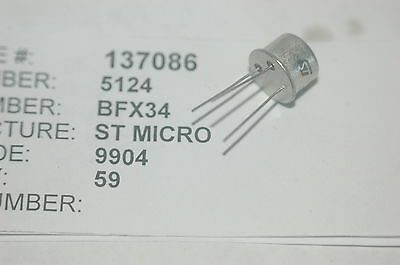 St Micro Bfx34 Bipolar Power Through Hole Transistor To-39 Lot Quantity-10