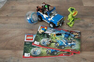 Authentic LEGO JURASSIC WORLD 75916 Dilophosaurus Ambush WITH EXTRA'S
