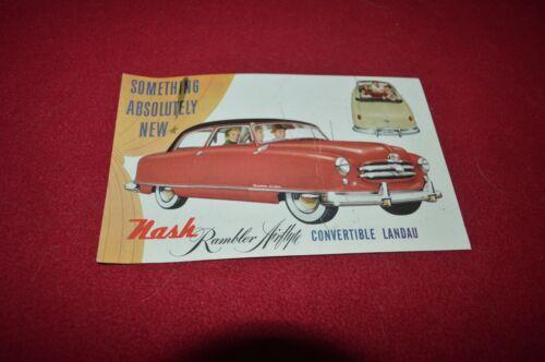 Nash Rambler Car For 1955 Post Card Dealer