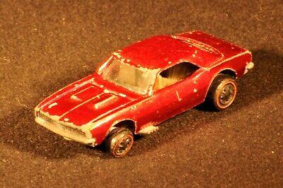 ORIGINAL Redline Hot Wheels Custom Camaro Spectraflame Red 1967 Base Sweet 16