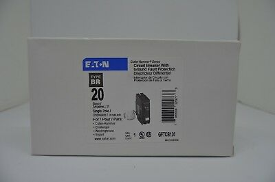 Eaton Cutler Hammer Gftcb120 1 Pole 20 Amp Ground Fault Circuit Breaker