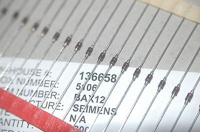 Seimens Bax12 Through Hole Axial Vintage Diode New Parts On Cut Tape Qty-100