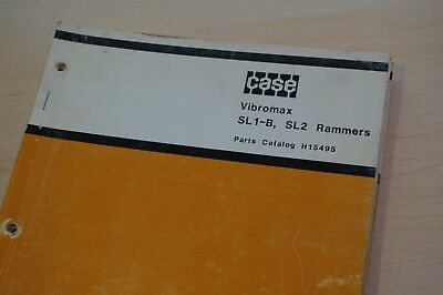 Case Vibromax Sl1-b Sl2 Rammer Compactor Parts Manual Spare List Jumping Jack