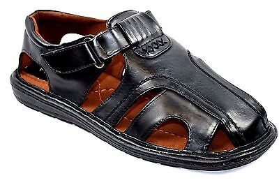 Closed Toe Fisherman Sandal - New  Fisherman Casual Sports Men Closed Toe Sandals -97b Black or Brown