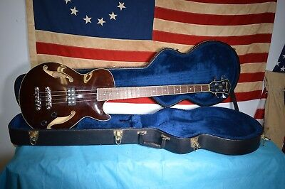 Ibanez Artcore AGB 140 Semi-Hollow 4 String Electric Bass Guitar w/case