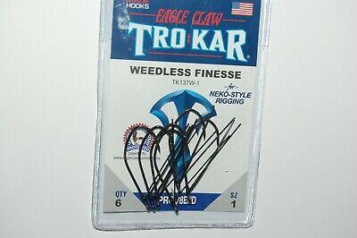 tro kar trokar soft plastic worm neko rig hook weedless finesse size 1 -