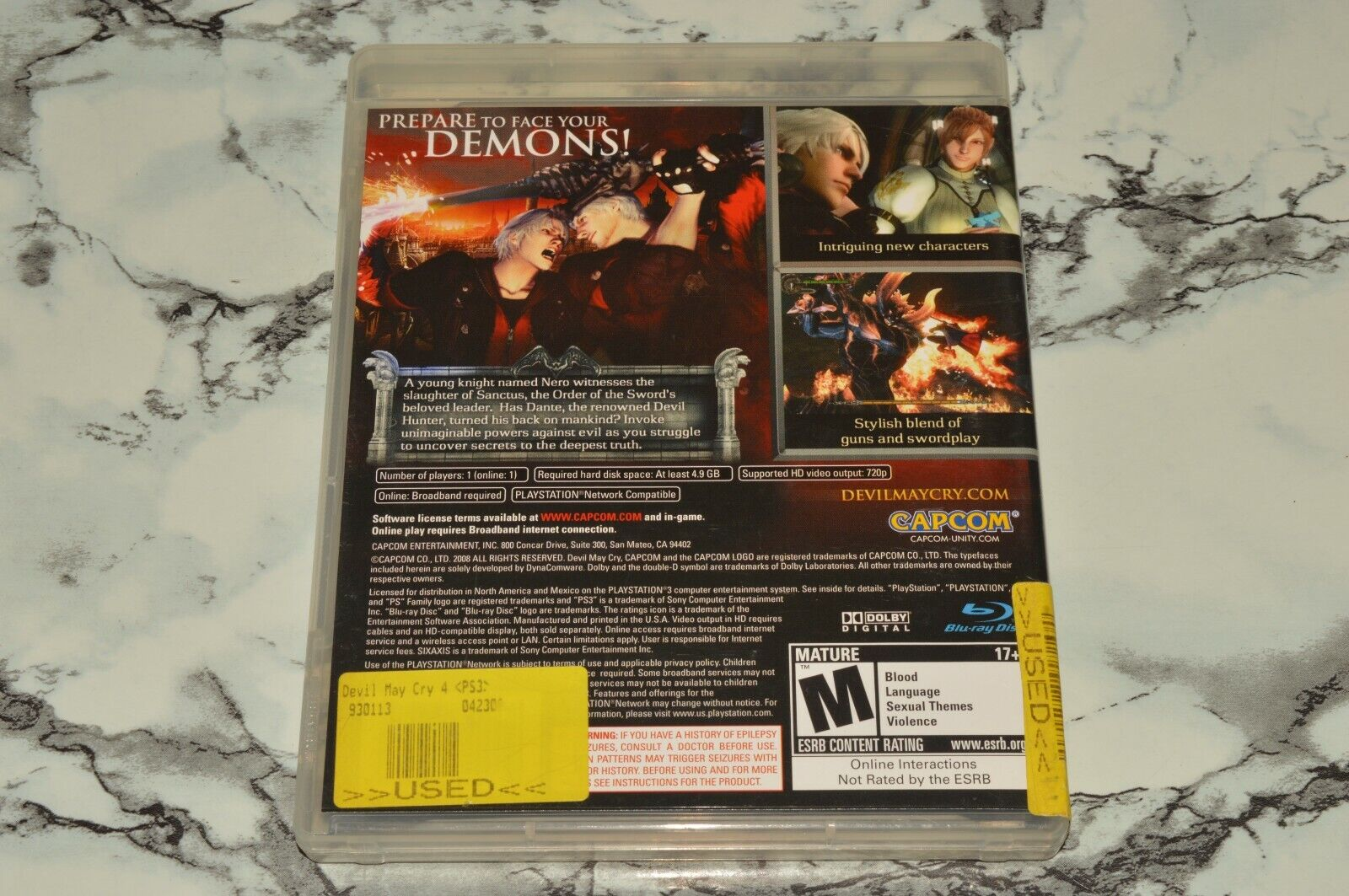 Devil May Cry 4 Four -- Sony PlayStation 3 PS3, 2008 -- Complete W/ Manual - $14.91
