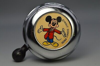 New Mickey Mouse Bicycle Bell Vintage Style Chrome Handlebar Mount Ding Ring