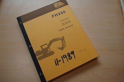 Fiat Allis Fh200 Trackkhoe Crawler Excavator Parts Manual Book Catalog 1989 List
