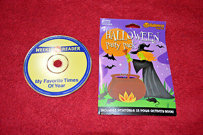 Lot of 2 HALLOWEEN CDs Party Pack Weekly Reader Favorite Times Year Scary - Time Of Year Halloween