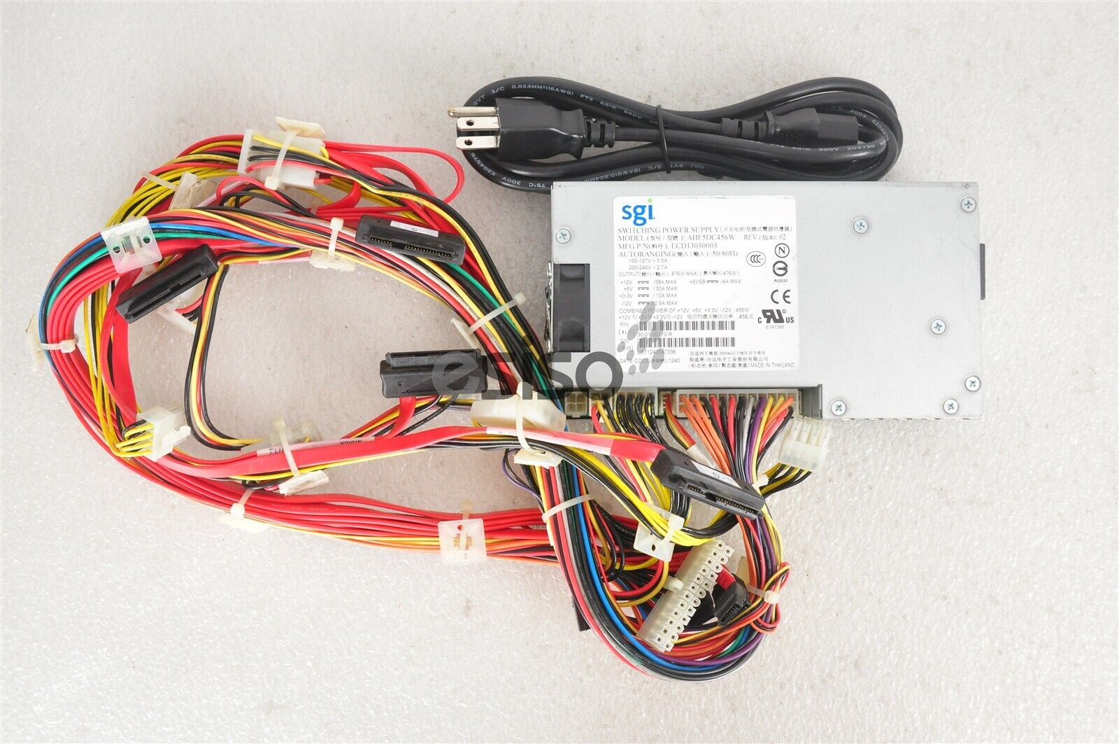 SGI Switching Power Supply Unit AHF5DC456W  30-01-00110-R 476W 50//60Hz PSU