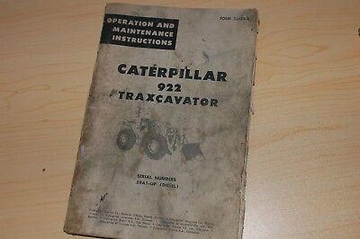 Cat Caterpillar 922 Wheel Loader Operation Operator Owner Manual Maintenance Pay
