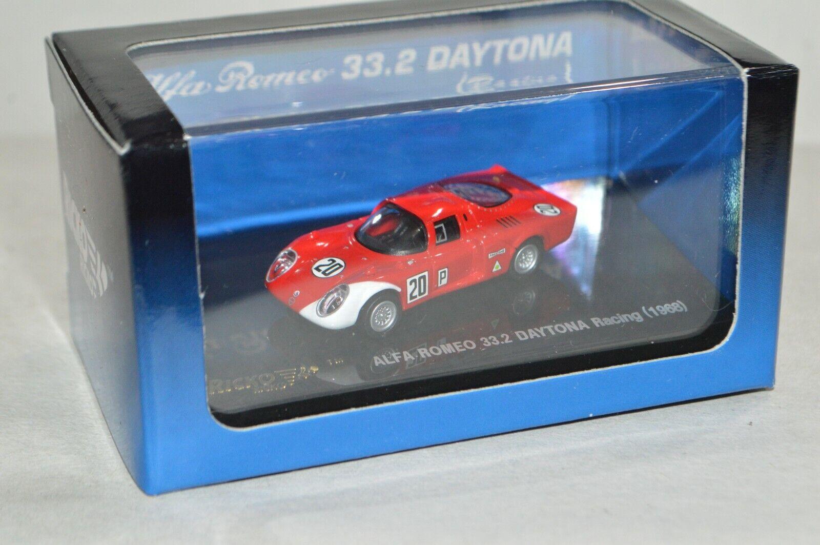 HO scale Ricko Alfa Romeo 33.2 Daytona Racing 1968 car auto automobile