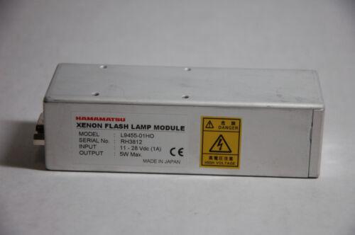 Hamamatsu L9455-01HO Compact 5W Xenon Flash Lamp Module Light Source UV-VIS-NIR