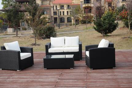 Geneva Outdoor Four Seater Sofa Two Cushion Covers (White + Grey) Belconnen Belconnen Area Preview