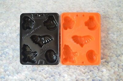 2 PC Halloween Jello Jiggler Molds Shots Ice Cube Cat Bat Witch Ghost Pumpkin](Jello Jiggler Molds Halloween)
