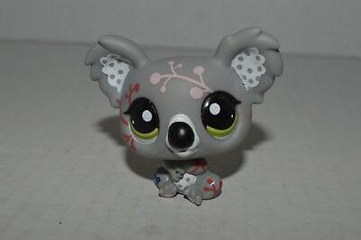 Littlest Pet Shop~#1837~Koala~Gray~Polka Dots~Art Deco Flower Designs~Green Eyes - Kids Shop Design