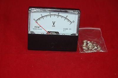1pc Dc 0-10v Analog Voltmeter Panel Voltage Meter 6070mm Directly Connect