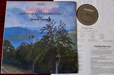 ELGAR EVENING SCENE PART SONGS LP TEMPLE MERIDIAN E77040 NM (1981) ENGLAND