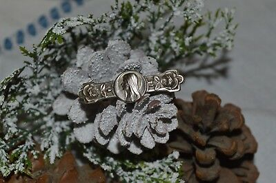 Collection Religion Antique Pin New Art Silver Metal Marie