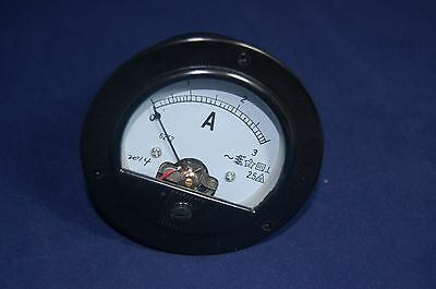 Ac 0-3a Round Analog Ammeter Panel Amp Current Meter Dia. 90mm Direct Connect