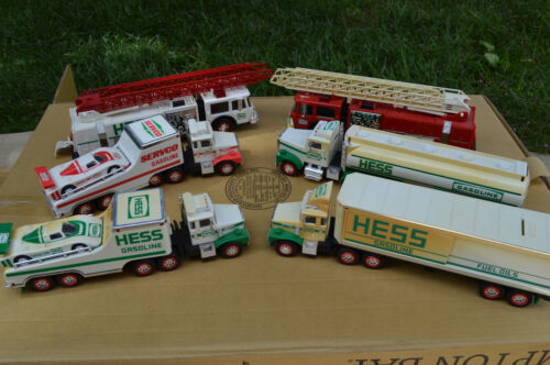 Lot of 6 HESS & SERVCO Trucks Tankers Fire Engines Carriers