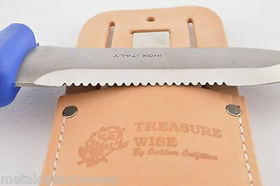 3-in-1 Treasure Wise Metal Detector User Digging Knife and Large Leather Sheath