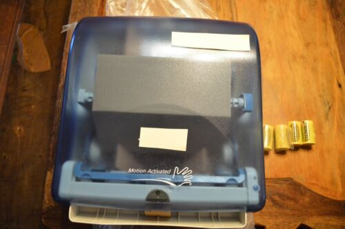 AUTOMATED TOUCHLESS PAPER TOWEL DISPENSER,BATHROOM WALL MOUNT,BLUE,NEW IN BOX