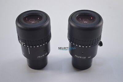 Pair Of Leica Microscope Lenses 10445302 Mok-96 Lens Eyepiece 25x