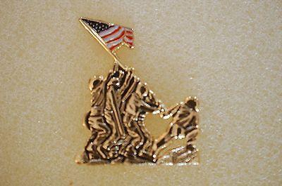 US USA USMC Marine Corps Iwo Jima Military Hat Lapel Pin