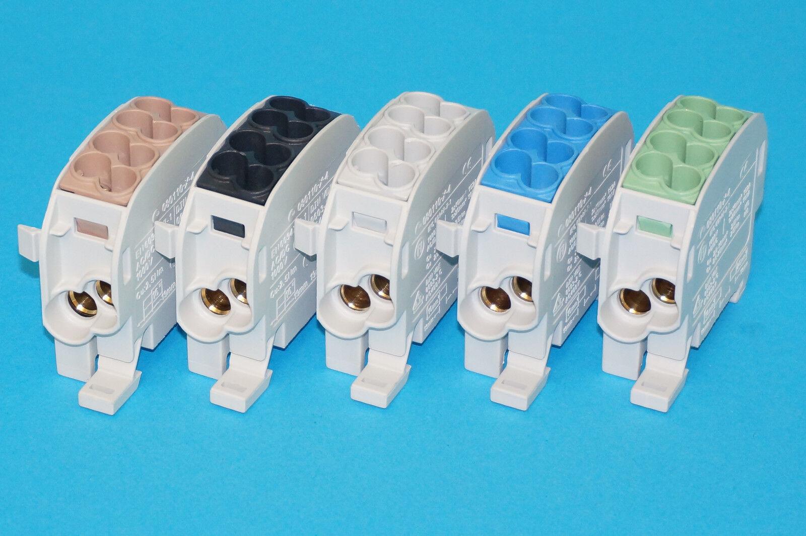 Hauptleitungsklemme Abzweigklemme Anschlußklemme L/N/PE 2,5 - 25 mm² zur Auswahl