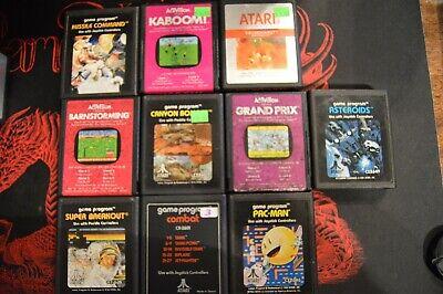 Lot of 10 Atari 2600 Games!! HUGE! Barnstorming Kaboom asteroids pac-man more - Kaboom Games