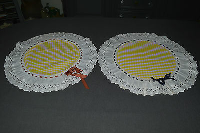 Antique Above Of Cushion Pattern Petits Check Embroidery Strainer Ribbon