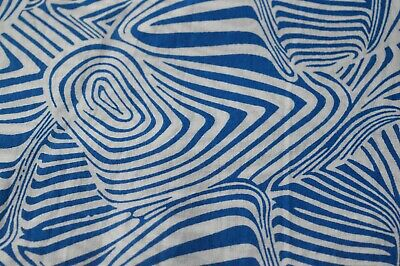 2.5 yard Indian Hand Made pure cotton fabric hand block Striped Indian fabric by