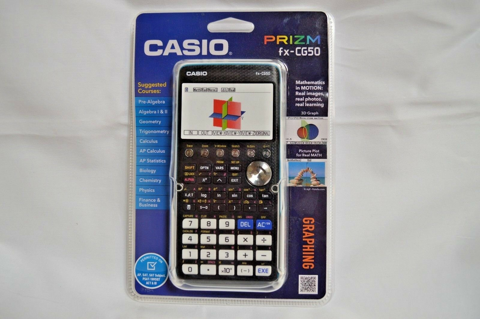 Casio FX-CG50 Prizm 3-D, Color-Display Graphing Calculator,