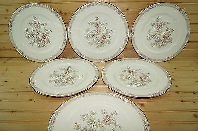 Noritake Imperial Garden 9720  6  Dinner Plates  10 5 8
