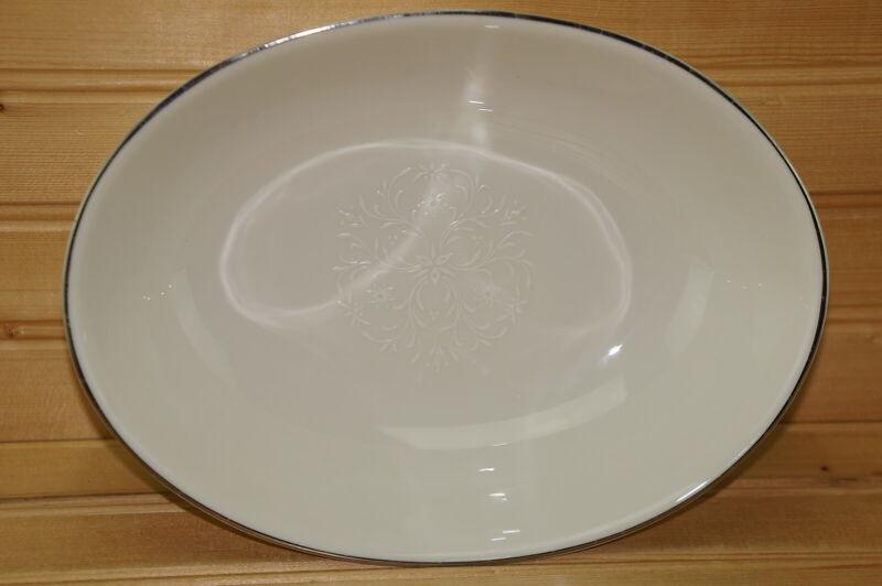 """Pickard Damask Oval Vegetable Serving Bowl, 9 1/8"""""""