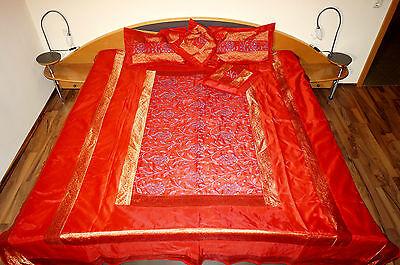 Seide Doppelbett (VerschiedeneTagesdecken für Doppelbett ca. 220 x 260 cm aus Seide mit 4 Kissen )