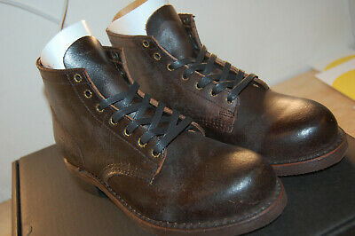 NIB FRYE Mens Prison Combat Boot $400 Boots Mens 7.5 M chocolate Made In USA - Frye Boot Mens Boots