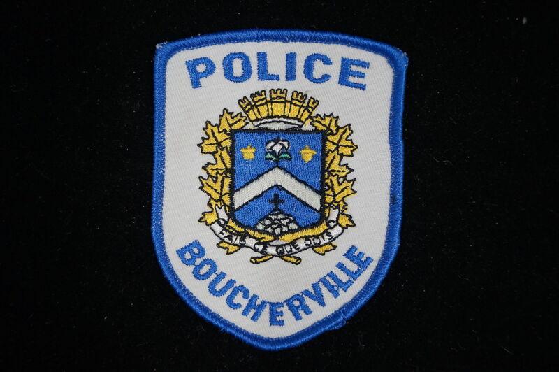Canadian Boucherville Quebec Police Patch