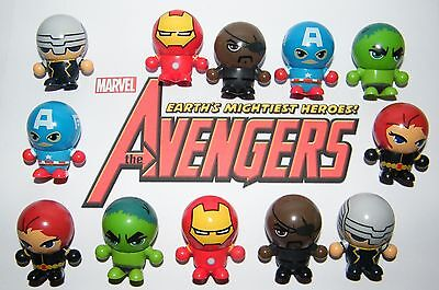 Marvel Avengers Party Favors Set of 12 Neat 3 in 1 Figures W/ Bouncy Ball Heads - Bouncy Ball Party