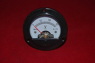 Ac 0-30v Round Analog Voltmeter Voltage Panel Meter Dia. 66.4mm Dh52