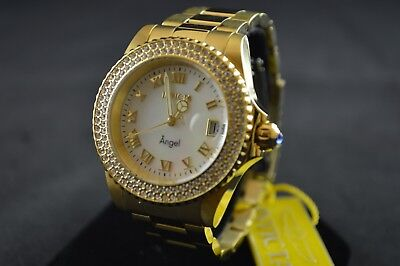 Invicta Angel Stainless Steel Casual Gold-Toned Women's Watch 22875