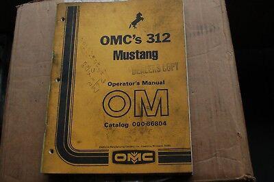 Mustang 312 Skid Steer Loader Owner Operator Operation Maintenance Manual Book