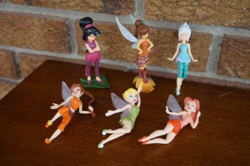 FIGURES Disney Lot Set TINKERBELL Mini Dolls Fairy Small Toys Rosetta Fawn Vidia