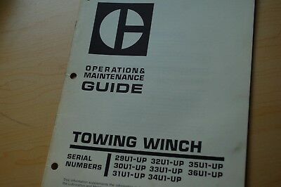 Cat Caterpillar Towing Winch Owner Maintenance Operator Operation Manual Tractor