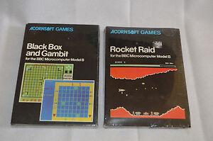 Acornsoft Games BBC Micro Computer Model B Rocket Raid Black Box Gambit 1982 NEW
