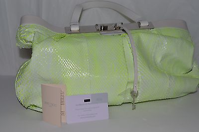 New Jimmy Choo Snakeskin Python Leather Tote  Bag  $3600