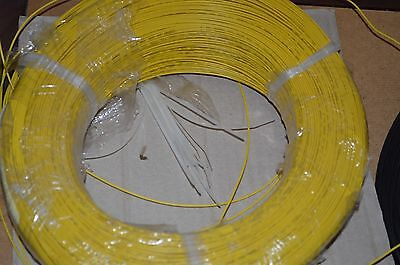 22 Awg Gauge Solid Hook Up Wire Yellow 50ft 300 Volts